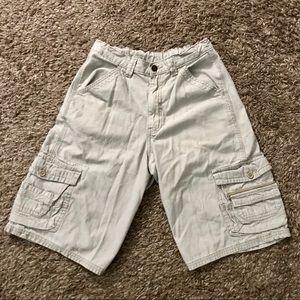 WRG Jeans Co Light Khaki Cargo Shorts Adjustable Waistline Boys Size 18